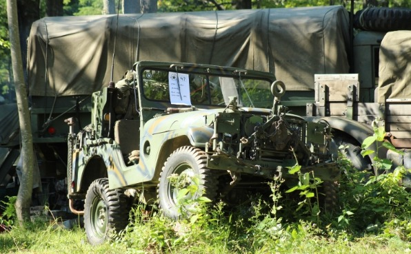 Military Jeep at Central Wisconsin Military Show