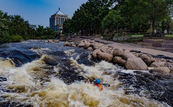 Wausau Whitewater Park kayak course