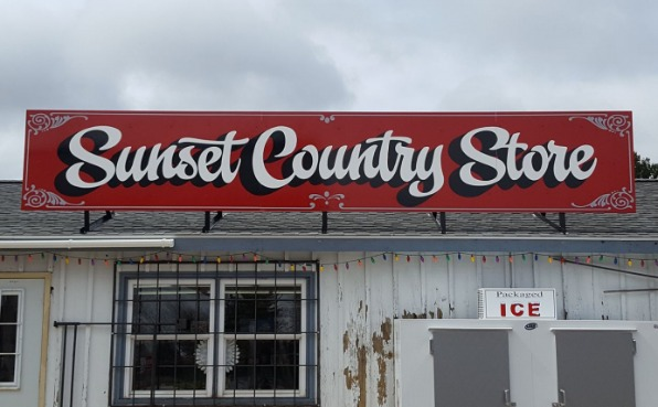Sunset Country Store sign