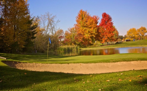 Indianhead Golf Course green and sand trap