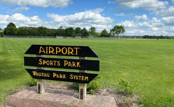 Airport Park Sign and Fields