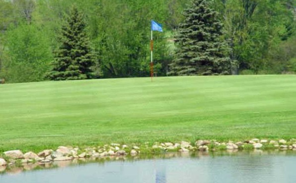 View of the green at Trapp River golf course.