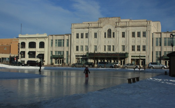 Ice Rink on the 400 block in Wausau in front of the Grand Theater.